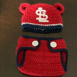 Other - St. Louis cardinals newborn photo outfit